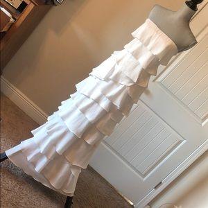 Stunning BCBG tiered gown
